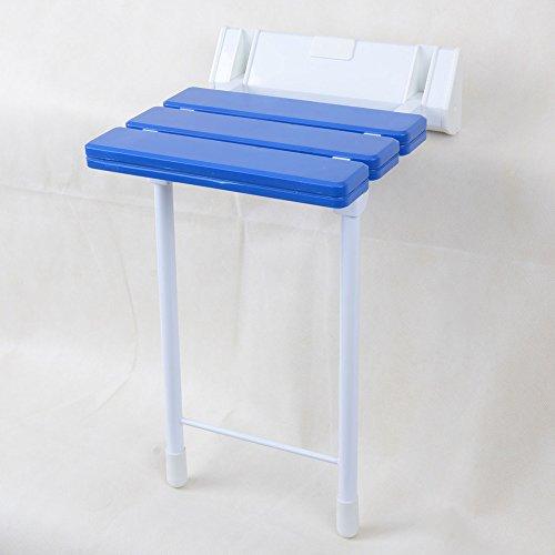 QFFL Tabouret Se Pliant fixé au Mur créatif/Chaise d'allée de sécurité/Tabouret de Salle de Bains 32 * 50 Cm Tabouret d'extérieur (Couleur : Bleu)