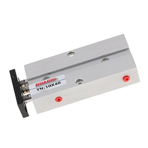 MagiDeal TN Serie Twin Rod Zylinder Pneumatikzylinder Bohrung 10-20mm Hub 10-300mm Doppelkolbenstange Luftdruckzylinder - Als Bild - TN10 40 -
