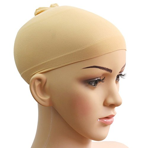 WINOMO 2pcs Calza Unisex Morbido Confortevole Parrucca Hairnet Cap Snood (Colore Della Pelle)