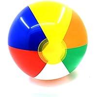 Rocita 6pcs Bola Inflable de Color Pelota de Juguete de Playa Bolas Inflables de Fiesta de Piscina de Bola de Playa