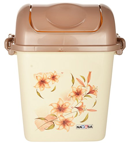 Nayasa Swing Dustbin with Lid, 13.5 Litres