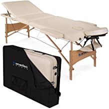 KINETIC SPORTS Massageliege 3 Zonen Polsterung 5 Cm MB01 Inklusive Tragetasche CREME
