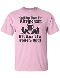 Podría tener Jugar para Altrincham Si no fuera por diseño de pájaros de Booze & Fútbol Camiseta Unisex en…