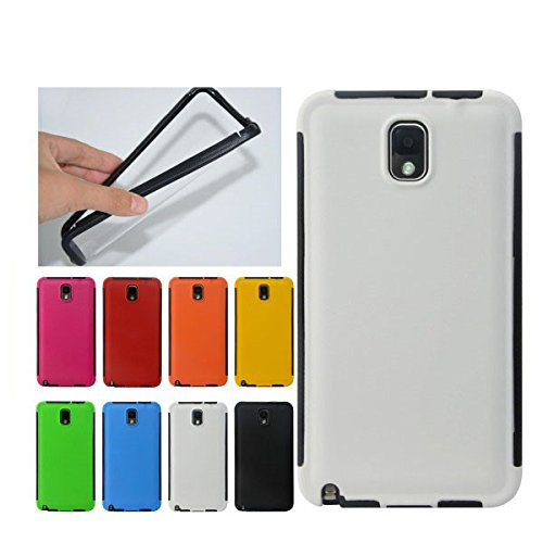 For Samsung Galaxy Note 3 Front + Back 2 in 1 Full Body Touch Screen Protector Hard Case Cover - WHITE  available at amazon for Rs.199