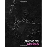 Large 500 Page Sketchbook: Black Marble Drawing Pad Sketching, Drawing, Creative Doodling to Draw and Journal