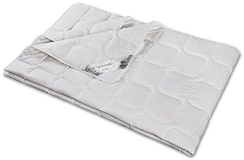 moebelfrank Bettdecke Wild-Seide KBA BIO Baumwolle ver. Größen Steppbett Natur Nika, Größe:155 x 220