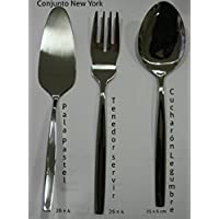 Cubertería New York (Pala Pastel Servir + Tenedor Servir + Cucharón legumbre) (Tenedor