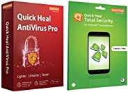 Quick Heal Antivirus Pro (1 PC, 1 Year)+Total Security for Android (1 User 1 Year)
