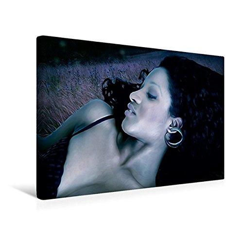 Calvendo Premium Textil-Leinwand 45 cm x 30 cm Quer, Ein Motiv aus Dem Kalender Legende Vampire | Wandbild, Bild auf Keilrahmen, Fertigbild auf Echter Im Mondscheinlicht Menschen Menschen