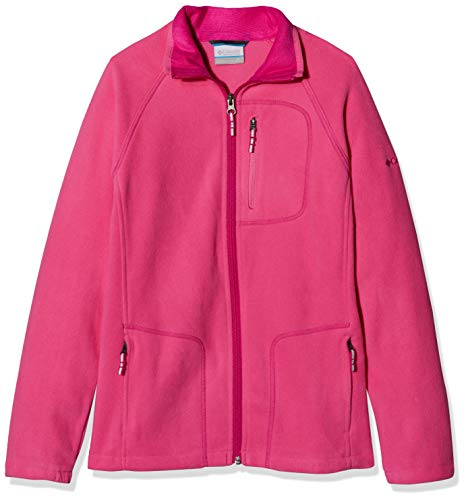 Columbia Fleece-sweatshirt (Columbia Kinder Fast Trek II Fleece Jacket and Sweaters, Rosa (Wild Geranium, Haute Pink), M)