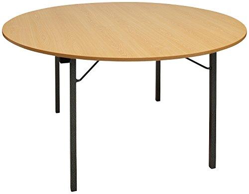Bankett-Tisch rund, 150x74cm (DxH), natur, rund, Korpus Stahl 1 Stück (Bankett-tisch Runde)