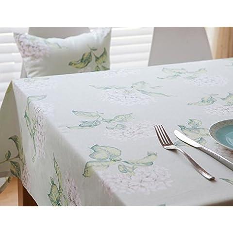 MeMoreCool Farfalle pattern rurale tavolo rettangolare panno pizzo multifunzione polvere dining-table panno, panno di lino cotone art 61x 61cm, Cotone, Green, 24 inch by 24