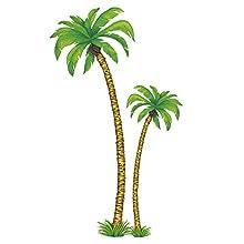 WIDMANN GU48031 Cardboard Palm Tree Decoration Set of 2 180 cm and 116 cm