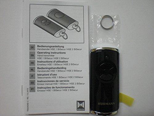 Hörmann Handsender HSE2 868-BS SW-Europa, schwarz, 436754