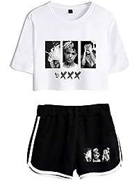 7e12880e90c13 Xxxtentacion Manga Corta Camisetas y Pantalones Cortos Xxxtentacion R.I.P  Camiseta Set Ombligo Traje De La Camiseta