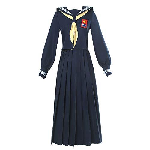 NSPSTT Damen Japanisches Matrosen Kostüm Schuluniform Anime Cosplay Langarmshirt und Langer Rockanzug