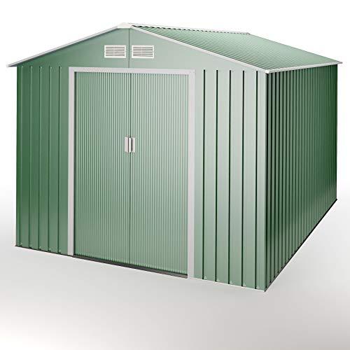 Wasabi - Light Green Caseta de jardín metálica Verde 7,2 m2 303x236x194cm Garantía 10 años