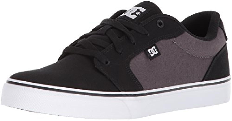 DC Men's Anvil TX Skate Shoe  Black/Battleship/White  6 D US