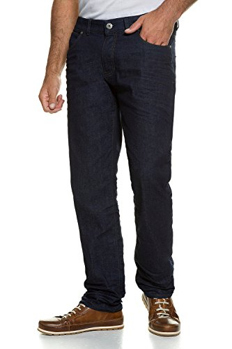 JP 1880 Herren große Größen bis 66   Denim Jeans   5-Pocket Hose   Stretch-Komfort   Gürtelschlaufen & Knopf mit Zipper   Loose Fit   darkblue 52 708391 93-52
