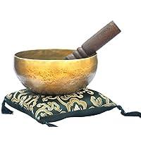 Cuenco tibetano, hecho a mano, 15,2 cm, para cantos o meditación