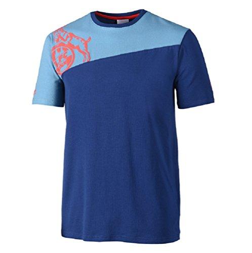 1. FC Köln Uhlsport Freizeit T-Shirt (XL, hellblau/blau) - Blau Männer Köln