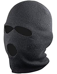 Outdoortips Black Balaclava Mask Thinsulate Warm Winter SAS Style Army Ski Hat Neck Warmer