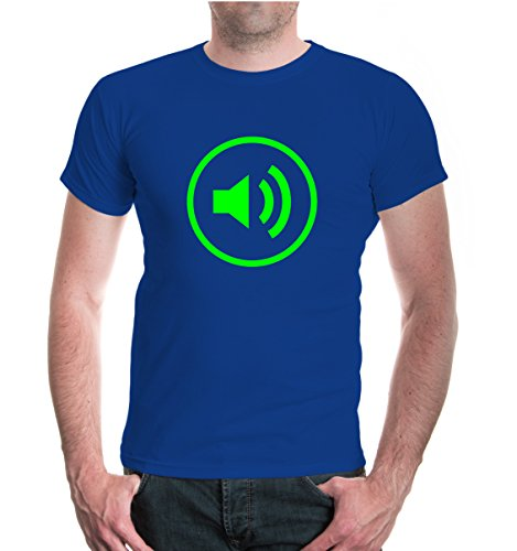 buXsbaum® T-Shirt Volume-Piktogramm Royal-Neongreen