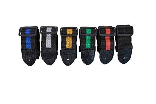 Farbe auf schwarz Nylon klassische Akustische verstellbar-klassischen Akustik-Gitarrengurt Erwachsene Kinder Kleine Gitarre 19Musik UK Volle Größe Schwarz
