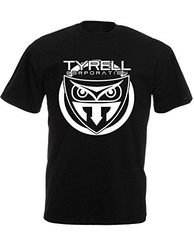 replicant-corporation-mann-gedruckt-t-shirt-schwarz-weiss-2xl-119-124cm