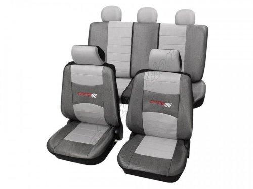 Preisvergleich Produktbild Sitzbezug Schonbezug Autositzbezug, Komplett-Set Volvo S70 / V70, 2er Serie, 3er Serie, 7er Serie, 9er Serie, Grau Silber