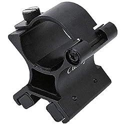 Cumay Forte Double éclairage Lampe de Poche Gun Mount Support magnétique pour Lampe de Poche Tactique x Monter avec boîte d'origine, L