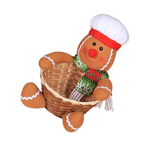 BeIilan Cestas Feliz Navidad Caramelo Cesta almacenaje