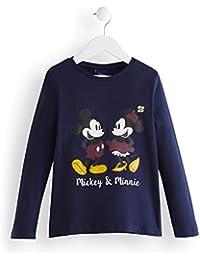 Marca Amazon - RED WAGON Camisa Manga Larga Mickey y Minnie Mouse Niñas