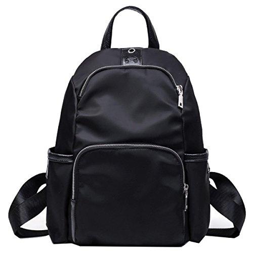 Borse Di Marca Yy.f Borsa A Tracolla In Nylon Borsa Per Studenti Viaggio Borsa Da Mare Zaino (nero E Blu) Black