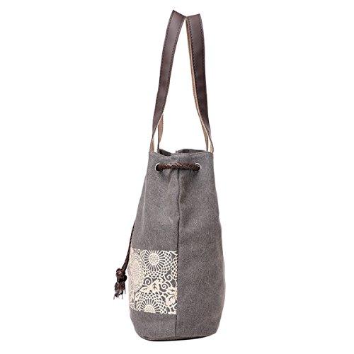 Prozess / Freizeit / Masse / Beweglicher / Leinwand / Umhängetasche Einkaufstasche Gray