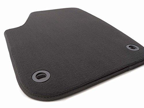 kh Teile - Tappetini in velluto per auto, lato guidatore, modello VW Polo, qualità originale, colore: nero
