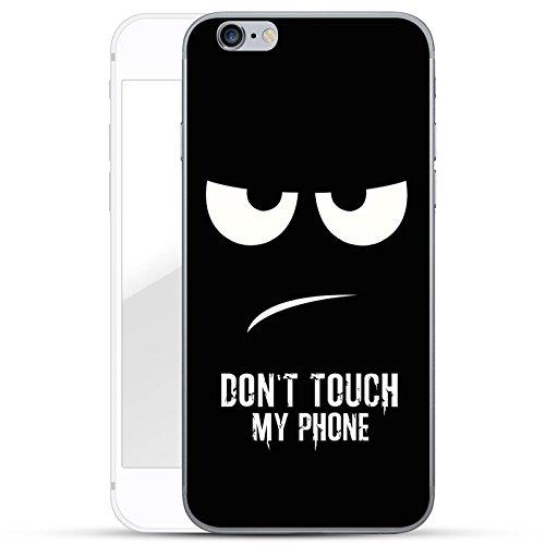 finoo | iPhone 6 und 6S Hard Case Handy-Hülle mit Motiv | dünne stoßfeste Schutz-Cover Tasche in Premium Qualität | Premium Case für Dein Smartphone| Don't touch my phone (Coverage Body Full Touch)