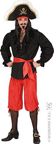 Homme Kostüm Pirat - Widmann-cs922619-Hose Velours rot Größe M/L