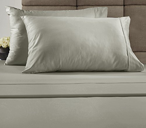 Chateau Home Hotel Collection Luxury 100% gekämmte Baumwolle Fadenzahl 300Bettlaken-Set mit Bonus Kissenbezügen. Mega Verkauf–niedrigsten Preisen garantiert., baumwolle, silber, Volle Größe (Kinder Größen Heelys)