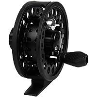 """Kelis Aluminio Carrete de la Mosca de 3 3/8""""Grande cojinete Pesca con Mosca del 7/8 Negro (85mm)"""