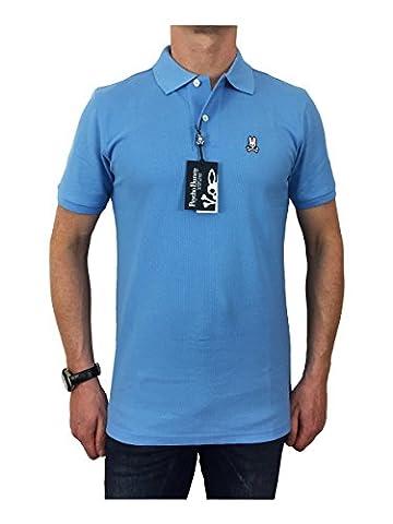 Psycho Bunny Men's Pima Cotton Classic Polo Shirt Bluebell, Blue, Medium