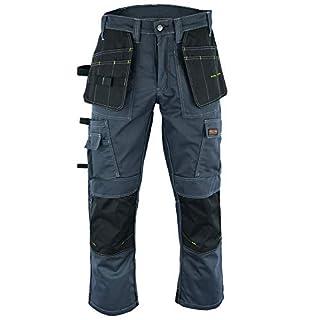 Wright Wears Men Work Cargo Trouser Grey & Khaki Heavy Duty Multi Pockets & Knee Pad Pockets, Like Dewalt (Grey, 38W x 31L)