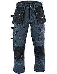 016fc10d2cac Wright Wears Men Work Cargo Trouser Grey   Khaki Heavy Duty Multi Pockets    Knee Pad