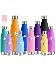 KollyKolla Botella de Agua Acero Inoxidable, Termo Sin BPA Ecológica, Botellas Termica Reutilizable Frascos