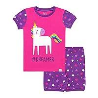 Harry Bear Girls Glitter Unicorn Short Pyjamas