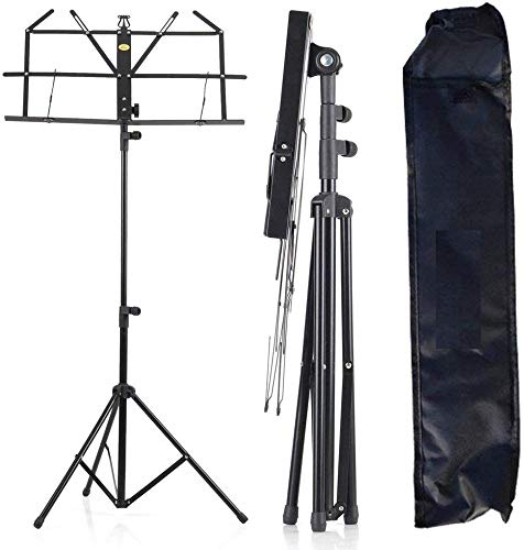 DEVICE OF URBAN INFOTECH Adjustable Folding Sheet Notation Music Stand Hevey Duty Music Stand Portable and Light weight with Music Sheet Clip Holder For Books, Notes, Violines, Lyrics Stand With Carry Beg