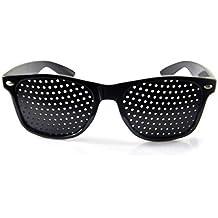 ZZM Homme Femme Vision Care sténopé Lunettes de Soleil Anti-Myopia sténopé  Lunettes Yeux Exercice 1f8b809ef5d7