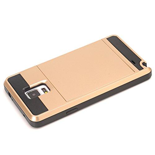 Galaxy Note4 Coque,EVERGREENBUYING [Slider Series] Ultra Slim léger 2 en 1 N9100 Cases [Porte coulissante semi-automatique][Housse de Protection] [Fente pour Carte] Cover Pour Samsung GALAXY Note 4 Ro Vert Menthe