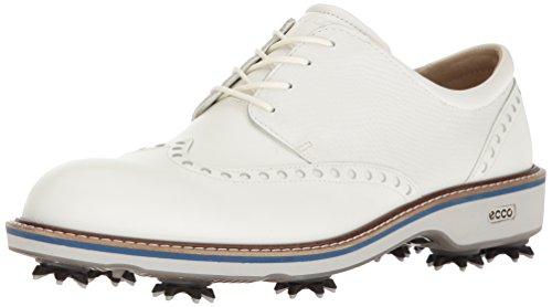Ecco Herren Men's Golf Lux Golfschuhe, Weiß (50874WHITE/White), 43 EU (White Lux Schuhe)