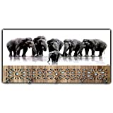 Xpression Décor Key Holder Rack with Photo of Elephant 10544